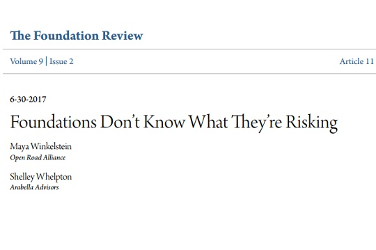 Foundations Don't Know What They're Risking