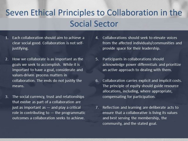 Collaboration Champions Release Principles for Ethical Collaboration