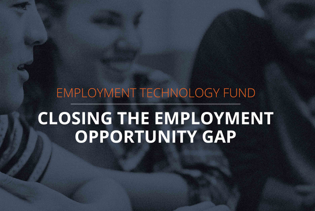 Innovating to Close the Employment Opportunity Gap