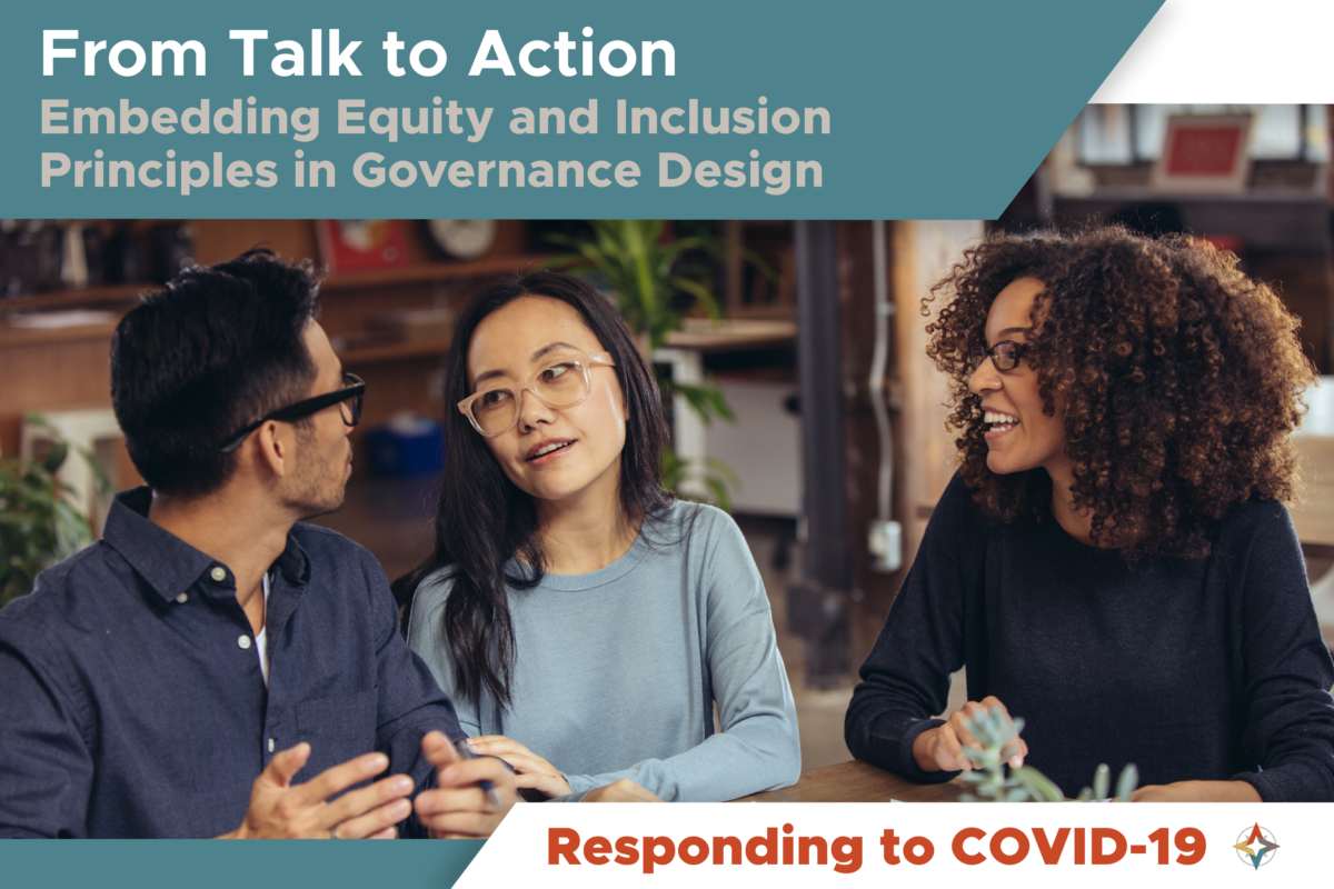 Ensuring Equitable Governance of COVID-19 Response Initiatives