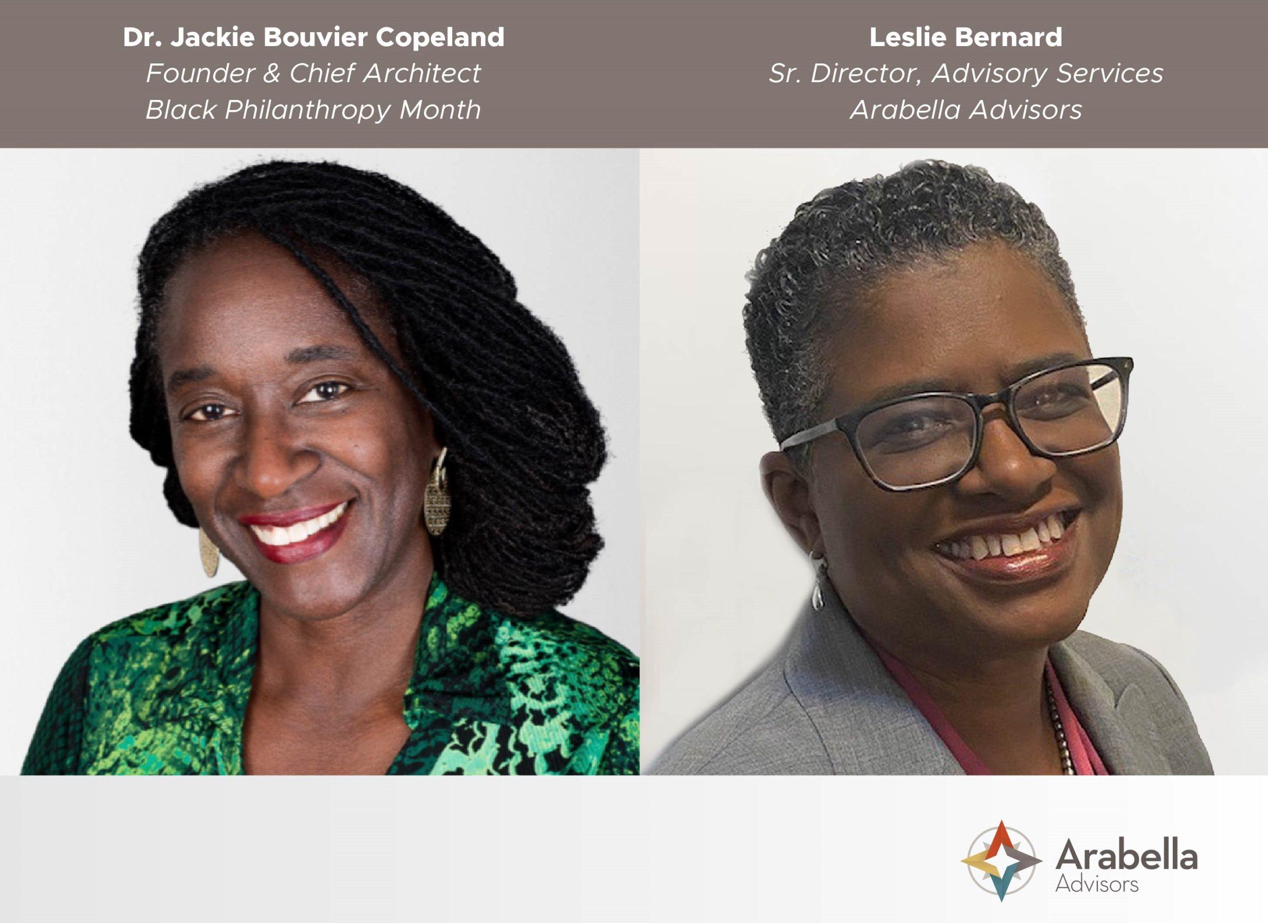 Dr. Jackie Bouvier Copeland and Black Philanthropy Month